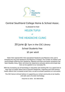 Headache Clinic Talk