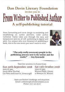 """From Writer to Published Author""  Tutorial"