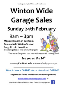 Winton Wide Garage Sale Registrations now open!