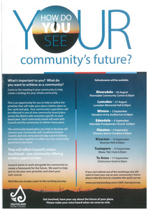How do you see your community's future?