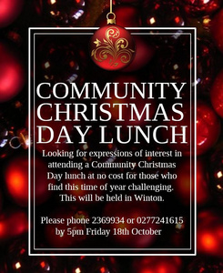 Community Christmas Day Lunch