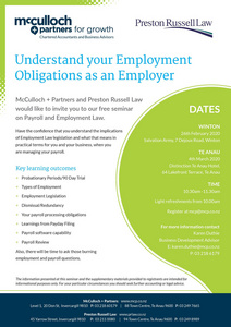 Winton Employment Seminar
