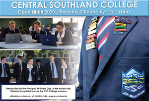 Central Southland College Open Night